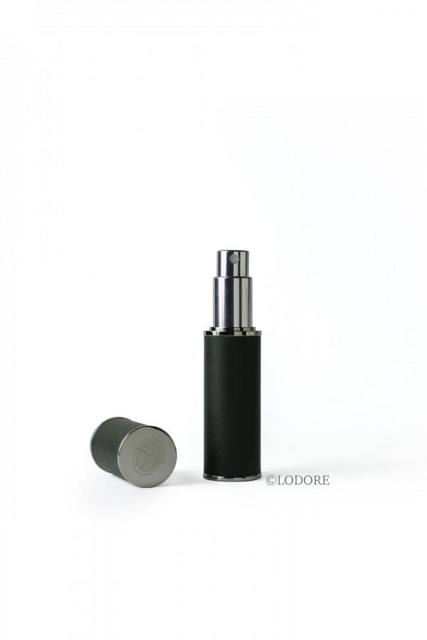 بخاخ الحقيبة - جلد لون أخضر غامق مع محفظة المرذاذ وقمع للتعبئة